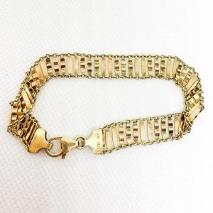 .925 Sterling Silver Gold Bracelet